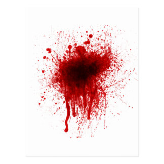 Blood Splatter Realistic Postcard