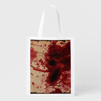 Blood Splatter Reusable Grocery Bag