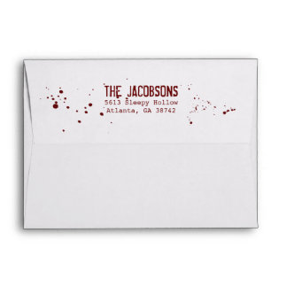 Blood Splatter Scary Halloween Envelope