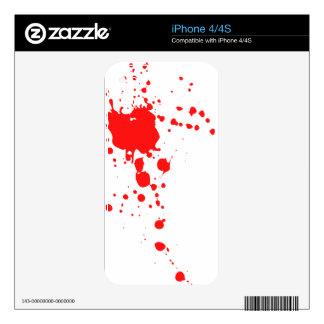 Blood Splatter iPhone 4 Decals