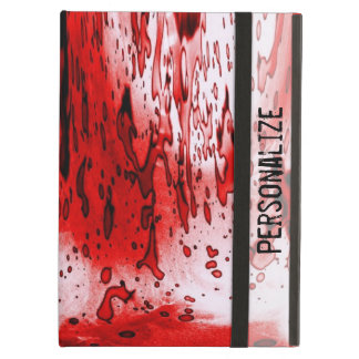 Blood Splatter with Personalize Name iPad Air Cases