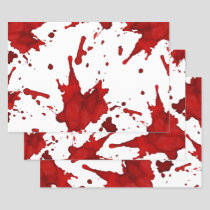 Blood Splatter Wrapping Paper Sheets