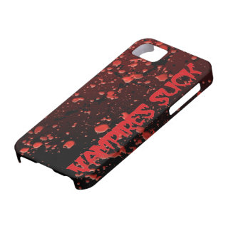 Blood Splattered Funny Halloween Vampires Suck iPhone SE/5/5s Case