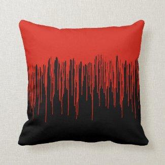 Blood Splattered Halloween Throw Pillow