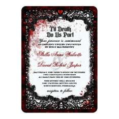 Blood Splattered Halloween Wedding Invitation at Zazzle