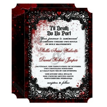 Halloween Themed Blood Splattered Halloween Wedding Invitation