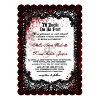 Blood Splattered Halloween Wedding Invitation