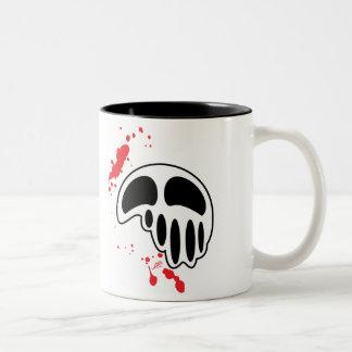Blood Splattered Melting Skull Illustration Coffee Mugs