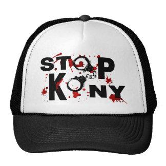 Blood Splattered STOP KONY Message Hats