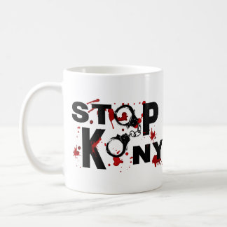 Blood Splattered STOP KONY Message Mugs