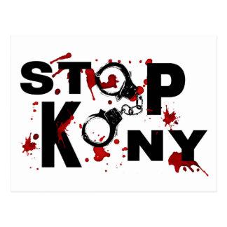 Blood Splattered STOP KONY Message Postcard