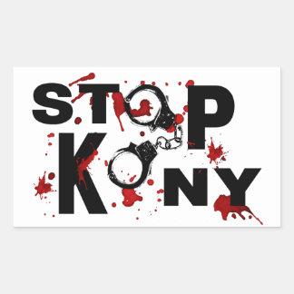 Blood Splattered STOP KONY Message Rectangle Sticker