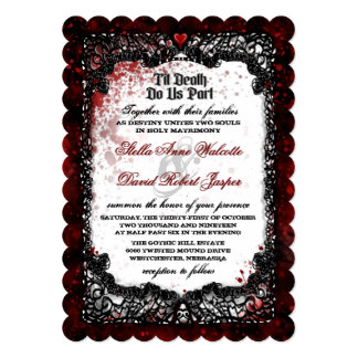 "Blood Splattered Wedding Invite ""Together With"""