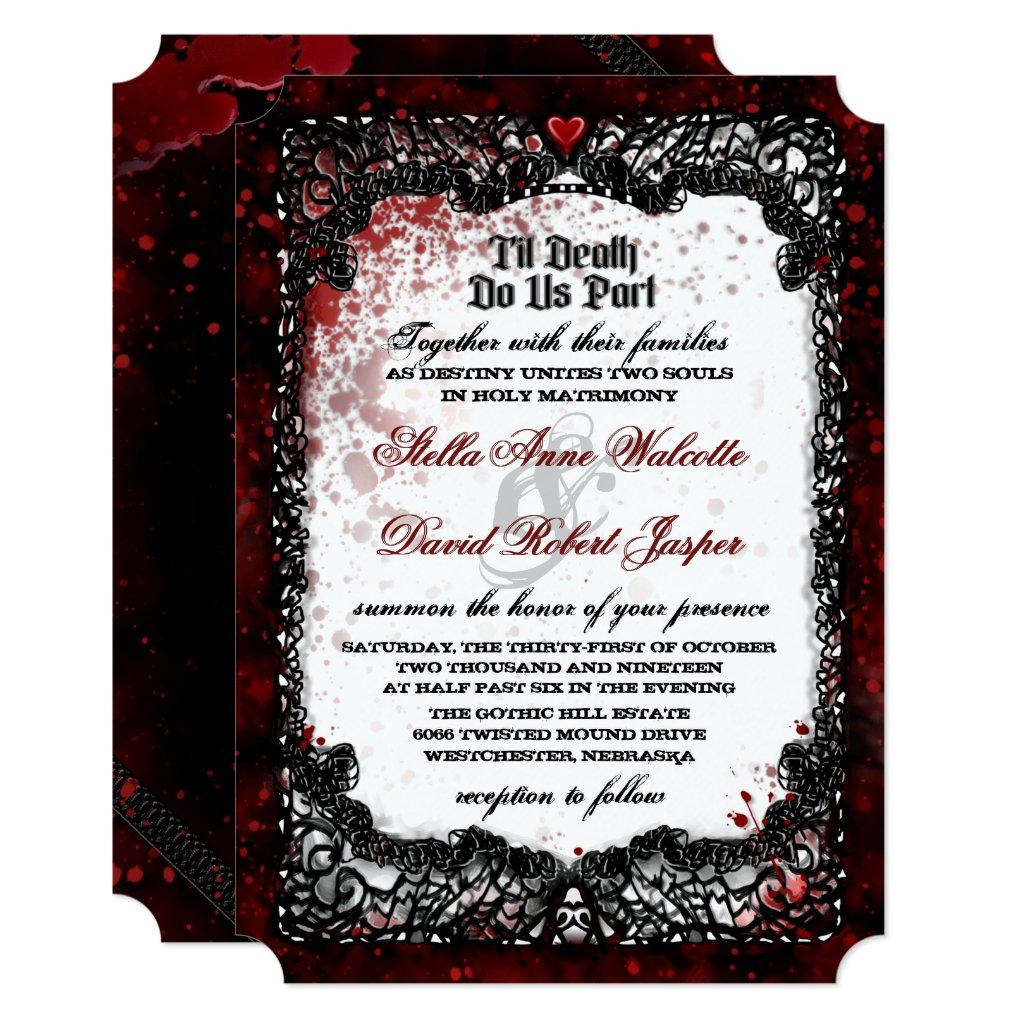 Blood Splattered Wedding Wedding Invitation Love