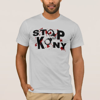 Blood Splatters and Handcuffs STOP KONY! T-Shirt