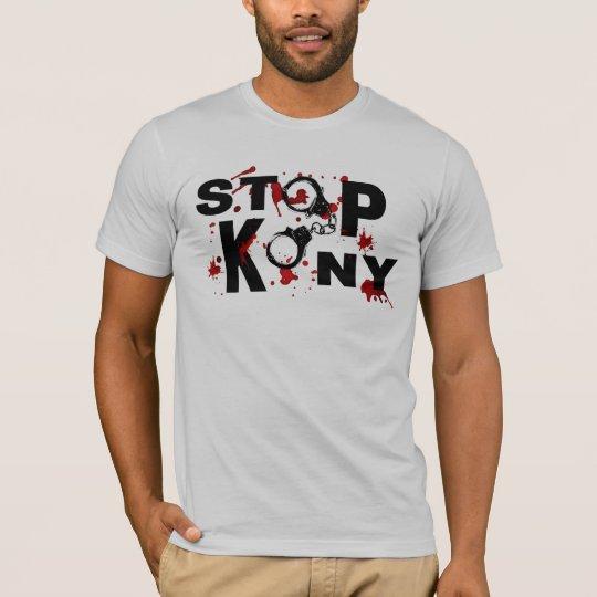 Blood Splatters and Handcuffs STOP KONY! T-Shirt
