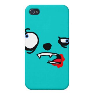 Blood stained crazy creature face case for iPhone 4