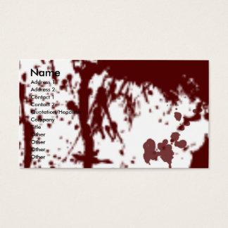 BLOOD STAINED PROFILE CARD