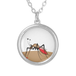 Blood sucking Insect Round Pendant Necklace