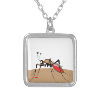 Blood sucking Insect Square Pendant Necklace
