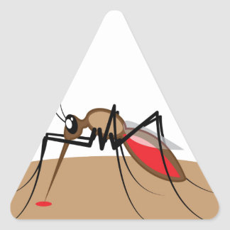 Blood sucking Insect Triangle Sticker