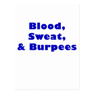 Blood Sweat and Burpees Postcard