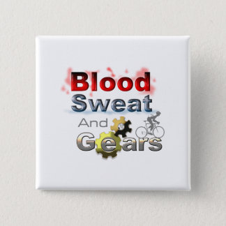 blood sweat and gears pinback button