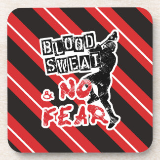 Blood, Sweat and No Fear Lacrosse Coaster