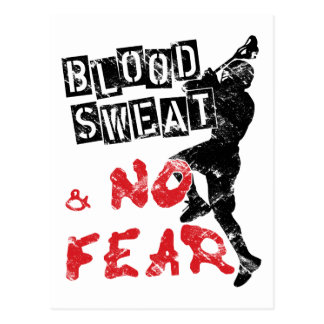 Blood Sweat and No Fear Lacrosse Postcards