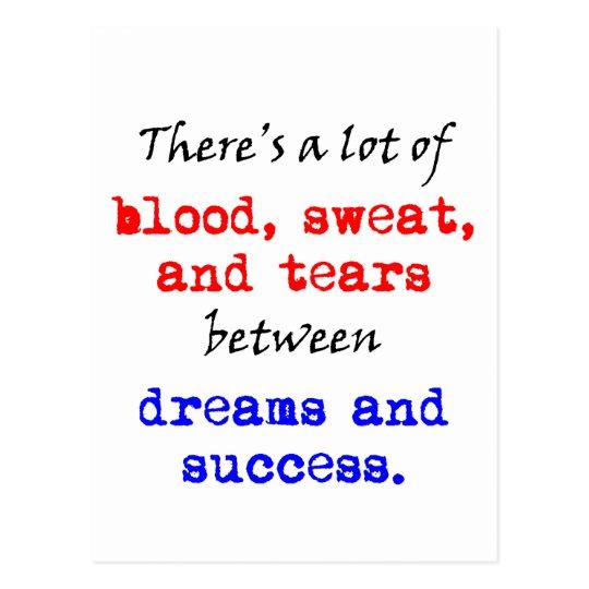Blood Sweat and Tears Postcard
