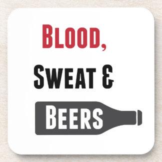 Blood, Sweat & Beers Drink Coaster