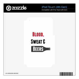 Blood, Sweat & Beers iPod Touch 4G Skin