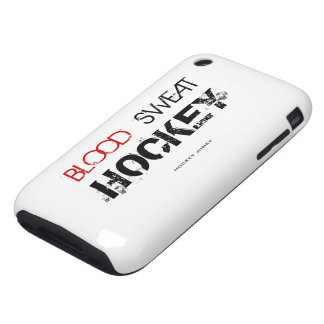 BLOOD SWEAT HOCKEY iPhone 3 TOUGH CASES