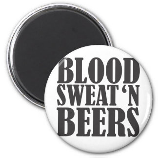 blood sweat n beers 2 inch round magnet