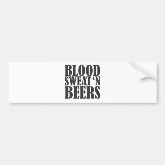 blood sweat n beers bumper sticker
