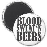 blood sweat n beers refrigerator magnets