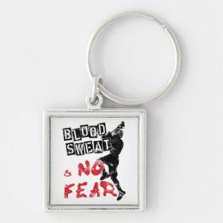 Blood Sweat & No Fear Lacrosse Keyring Key Chain