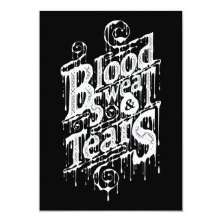 "Blood, Sweat, & Tears - Invite Card (Black) 5"" X 7"" Invitation Card"