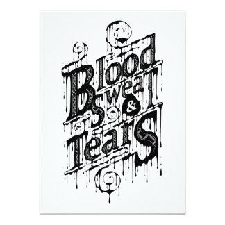 "Blood, Sweat, & Tears - Invite Card (White) 5"" X 7"" Invitation Card"