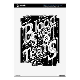 Blood, Sweat, & Tears - Ipad Skin (Black)