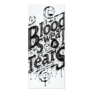 Blood, Sweat, & Tears - Long Invite Card (White)