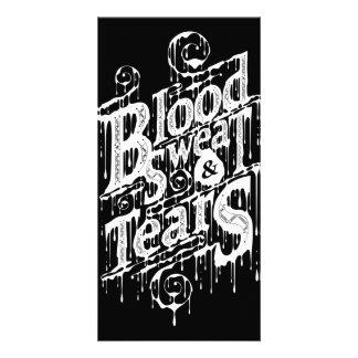 Blood, Sweat, & Tears - Photocard (Black) Custom Photo Card
