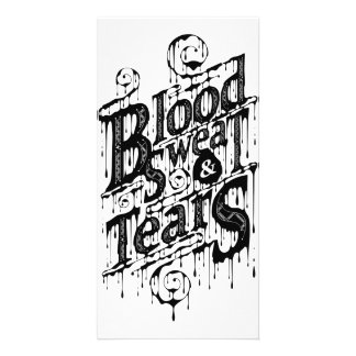 Blood, Sweat, & Tears - Photocard (White) Photo Greeting Card