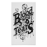 Blood, Sweat, & Tears - Poster (White)