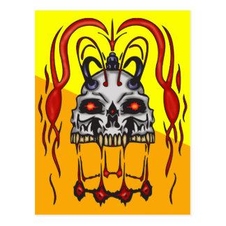 Blood Thirsty Cyborg Skull Postcard