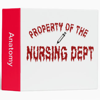 Blood Thirsty Property of the Nursing Department Binders