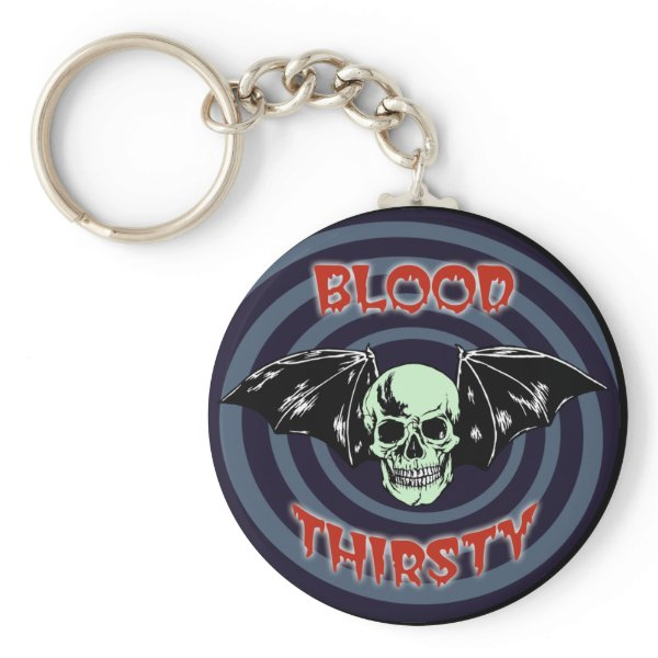 Blood Thirsty Skull Keychain