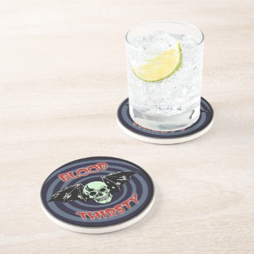 Blood Thirsty Skull Sandstone Coaster