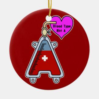 Blood type A Ceramic Ornament