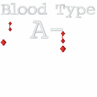 Blood Type A- Embroidered Tee